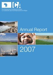 Annual Report 2007 - The Infrastructure Consortium for Africa