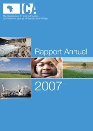 Rapport Annuel 2007 - The Infrastructure Consortium for Africa