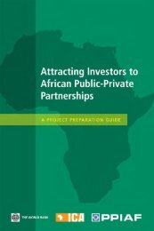 Attracting Investors to African Public-Private Partnerships - ppiaf