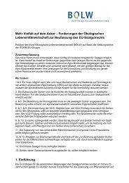 Position des BÖLW zur Novellierung des EU-Saatgutverkehrs