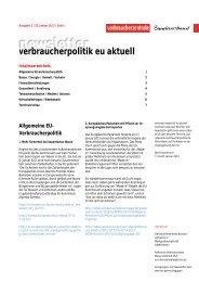Newsletter Verbraucherpolitik EU aktuell 2/2013 - vzbv