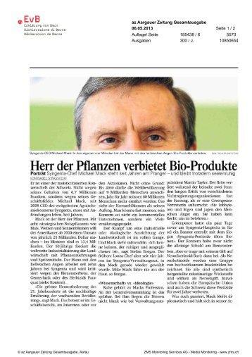 Herr der Pflanzen verbietet Bio-Produkte - Erklärung von Bern