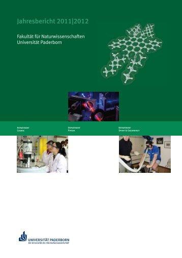 Jahresbericht 2011|2012 - Fakultät für Naturwissenschaften