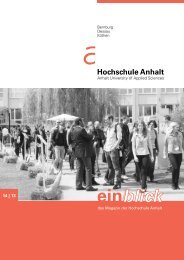 einblick 14 - 2013 - Hochschule Anhalt