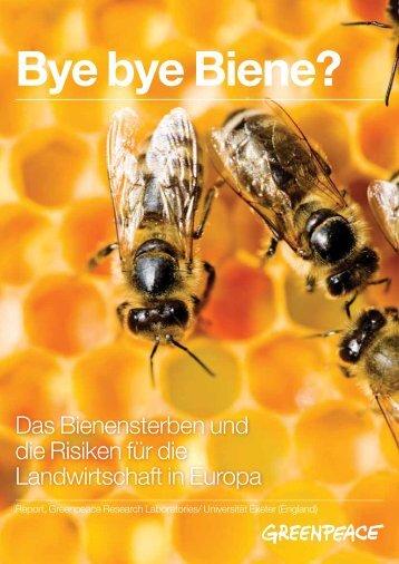 Bye bye Biene? - Greenpeace