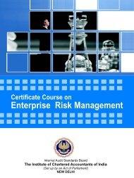 Brochure of Certificate Course on Enterprise Risk Management