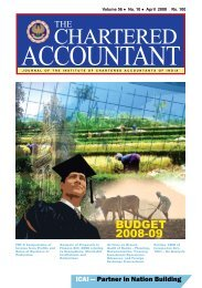 CHARTERED - Institute of Chartered Accountants of India