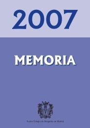 MEMORIA 2007 - Ilustre Colegio de Abogados de Madrid