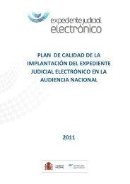 PLAN DE CALIDAD DE LA IMPLANTACIÓN DEL ... - Oficina Judicial