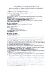 la liquidaciìn de la sociedad de gananciales - Ilustre Colegio de ...
