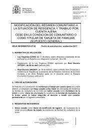 modificación del régimen comunitario a la situación de residencia y ...