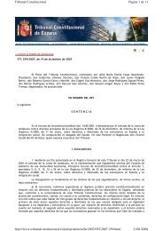 Pleno. Sentencia 259/2007, de 20 de diciembre