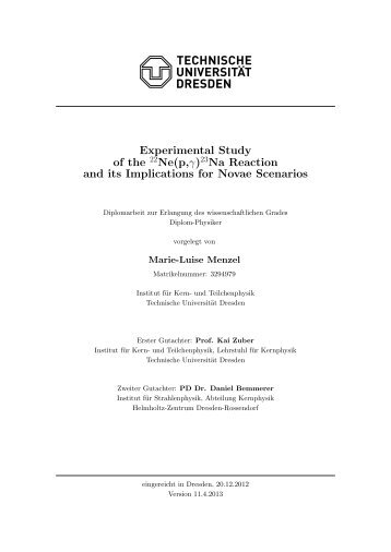 Experimental Study of the 22Ne(p,γ)23Na Reaction and its ...