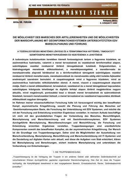 Hadtudományi szemle - 6. évf. 2. sz. (2012.) - EPA