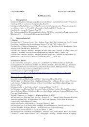 Dr. Eberhard Birk Stand: November 2013 Publikationsliste I ...