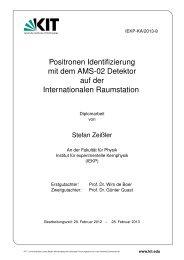 IEKP-KA/2013-8 - Institut für Experimentelle Kernphysik - KIT