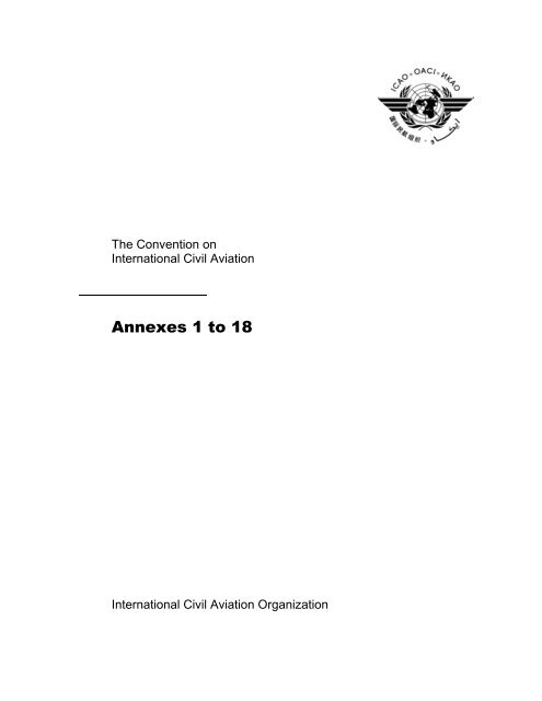 Annexes 1 To 18 Icao