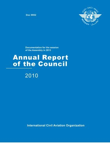 Annual Report of the Council - 2010 - ICAO