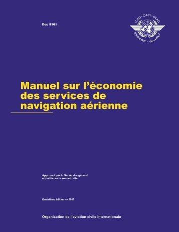 Manuel sur l'économie des services de navigation aérienne - ICAO