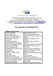 Kia Cadenza 3.8 Ex Model 2011 - ICB - International Car Bridge