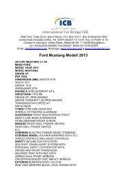 Ford Mustang Modell 2013 - ICB - International Car Bridge