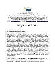 Range Rover Modell 2013 - ICB - International Car Bridge