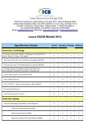 Lexus ES350 Modell 2013 - ICB - International Car Bridge