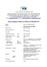 Isuzu PickUp 2.5 SD, 2.5 TDI & 3.0 TDI 2012/13 - ICB - International ...