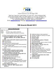 VW Amarok Modell 2013 - ICB - International Car Bridge