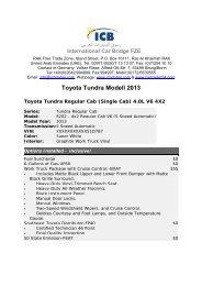 Toyota Tundra Modell 2013 - ICB - International Car Bridge