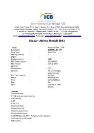 Nissan Altima Modell 2013 - ICB - International Car Bridge