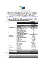 Toyota HZJ & GRJ 79 Double Cab Modell 2013 - ICB - International ...
