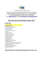 Mercedes-Benz ML350 4Matic Modell 2013 - ICB - International Car ...