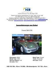 Luxusfahrzeuge Aus Dubai - ICB - International Car Bridge