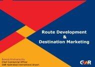 Route Development & Destination Marketing - ICCA