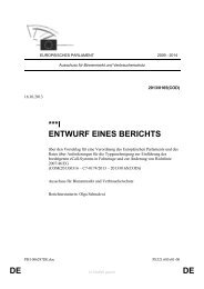 DE DE ***I ENTWURF EINES BERICHTS - Europa