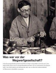 Was war vor der Wegwerfgesellschaft? - Deutsches Museum