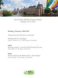 Monday, February 18th 2013 - ICCA