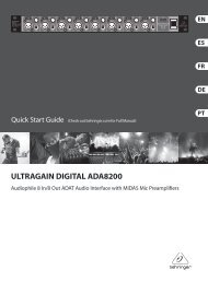 ultragain digital ada8200 - Behringer