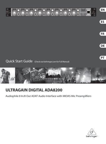 ultragain digital ada8200 - Behringer