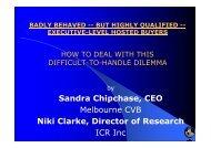 Niki Clarke and Sandra Chipchase - ICCA