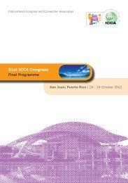 51st ICCA Congress Final Programme