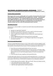 Summary of Key Learning Points - ICCA