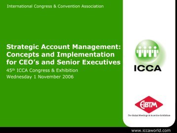 Strategic Account Management: Concepts and ... - ICCA