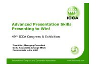 Presentation - Tina Altieri - ICCA