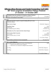 Official Lifting Storage and Freight Forwarding Tariff 2007 - ICCA