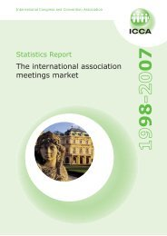 The international association meetings market - ICCA