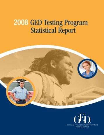2008 GED Testing Program Statistical Report (PDF)