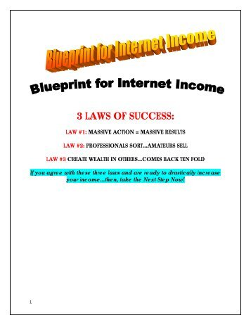Fast Start 3 - Blueprint for Internet Income