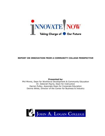 report on innovation from a community college perspective - Illinois ...